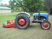 Ferguson T20 Tractor,  blade and finishing slasher