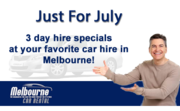 3 Day Car Hire Special For July